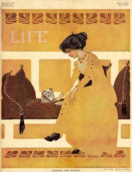 Coles Phillips Life Magazine Strenght 1910-05-12 Copyright Sex Appeal | Sex Appeal Vintage Ads and Covers 1891-1970
