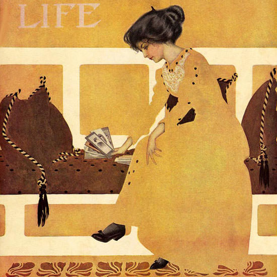 Coles Phillips Life Magazine Strenght 1910-05-12 Copyright crop | Best of Vintage Cover Art 1900-1970