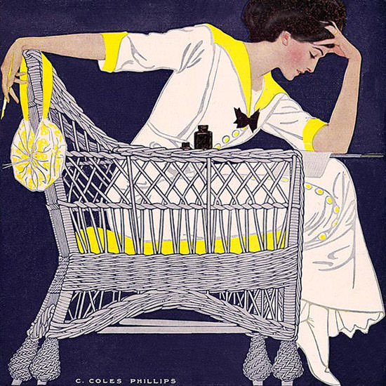 Coles Phillips Life Magazine Summer Fiction 1911-09-14 Copyright crop | Best of Vintage Cover Art 1900-1970