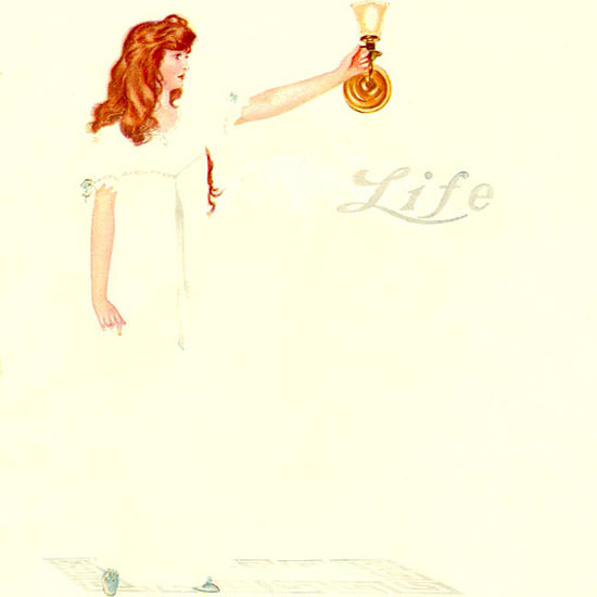 Coles Phillips Life Magazine The Latest Thing 1911-11-30 Copyright crop | Best of Vintage Cover Art 1900-1970