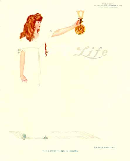 Coles Phillips Life Magazine The Latest Thing 1911-11-30 Copyright | Life Magazine Graphic Art Covers 1891-1936