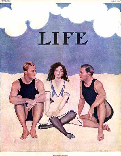 Coles Phillips Life Magazine The Sand Match 1909-07-22 Copyright | Life Magazine Graphic Art Covers 1891-1936
