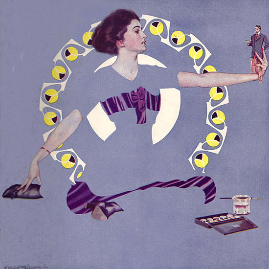 Coles Phillips Life Magazine Troublesome Toy 1911-09-28 Copyright crop | Best of Vintage Cover Art 1900-1970