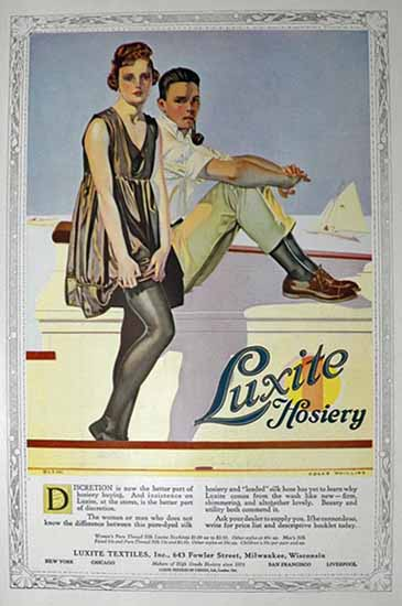 Coles Phillips Luxite Hosiery Discretion 1918 Sex Appeal | Sex Appeal Vintage Ads and Covers 1891-1970