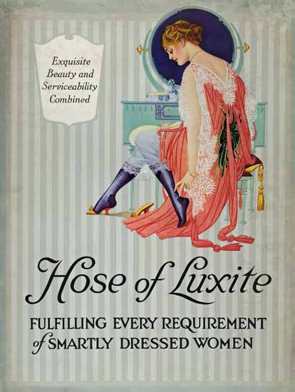 Coles Phillips Luxite Hosiery Smartly Dressed Women Sex Appeal   Sex Appeal Vintage Ads and Covers 1891-1970
