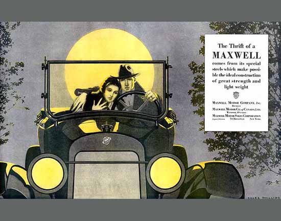 Coles Phillips Maxwell Motor Co The Thrift 1920 Sex Appeal | Sex Appeal Vintage Ads and Covers 1891-1970
