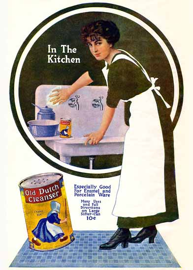 Coles Phillips Old Dutch Cleanser 1912 Sex Appeal | Sex Appeal Vintage Ads and Covers 1891-1970
