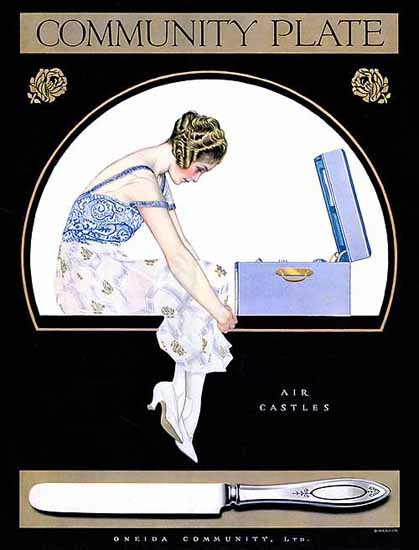Coles Phillips Oneida Community Plate Air Castles Sex Appeal | Sex Appeal Vintage Ads and Covers 1891-1970