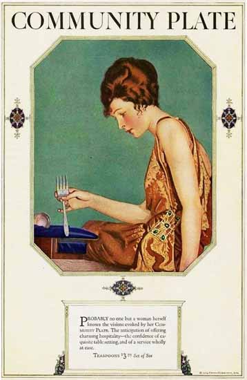Coles Phillips Oneida Community Plate Probably Sex Appeal | Sex Appeal Vintage Ads and Covers 1891-1970