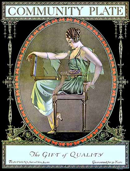 Coles Phillips Oneida Community Plate Quality 1919 Sex Appeal | Sex Appeal Vintage Ads and Covers 1891-1970