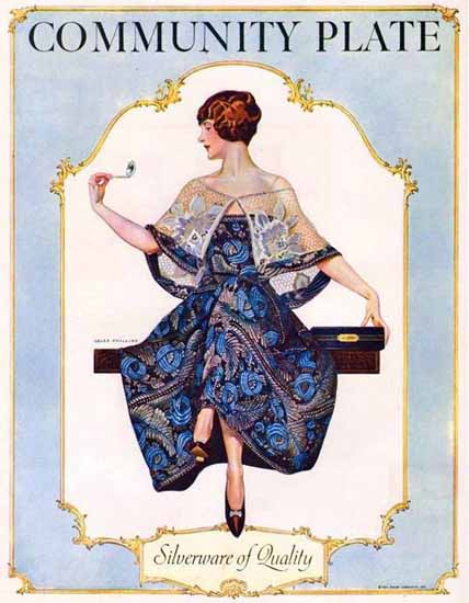 Coles Phillips Oneida Community Plate Silverware 1925 Sex Appeal | Sex Appeal Vintage Ads and Covers 1891-1970