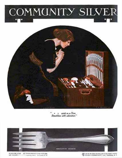 Coles Phillips Oneida Community Silver Adoration Sex Appeal | Sex Appeal Vintage Ads and Covers 1891-1970