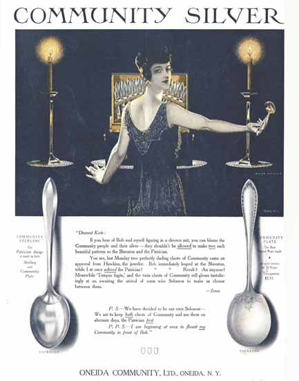 Coles Phillips Oneida Community Silver Allowed Sex Appeal | Sex Appeal Vintage Ads and Covers 1891-1970