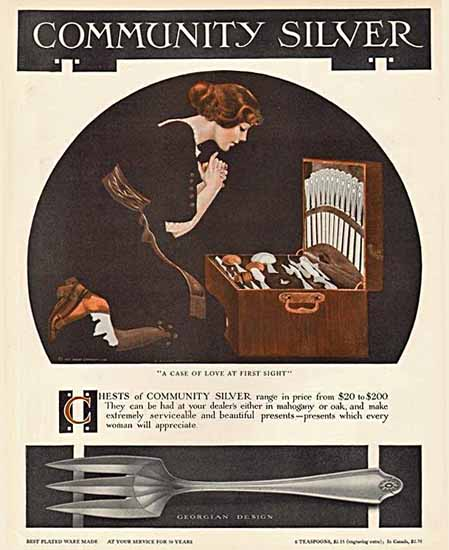 Coles Phillips Oneida Community Silver Love First Sight 1913 Sex Appeal | Sex Appeal Vintage Ads and Covers 1891-1970