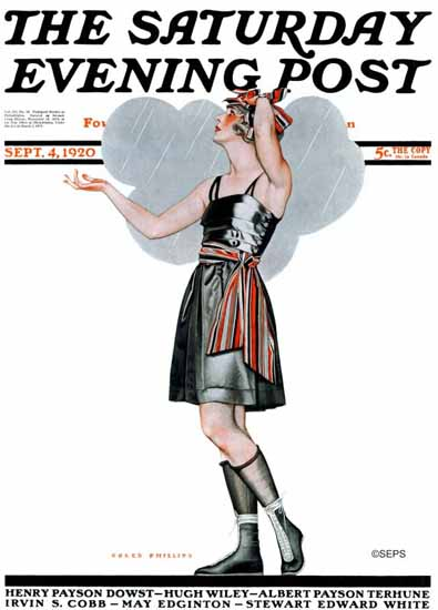 Coles Phillips Saturday Evening Post 1920_09_04 C   200 Coles Phillips Magazine Covers and Ads 1908-1927