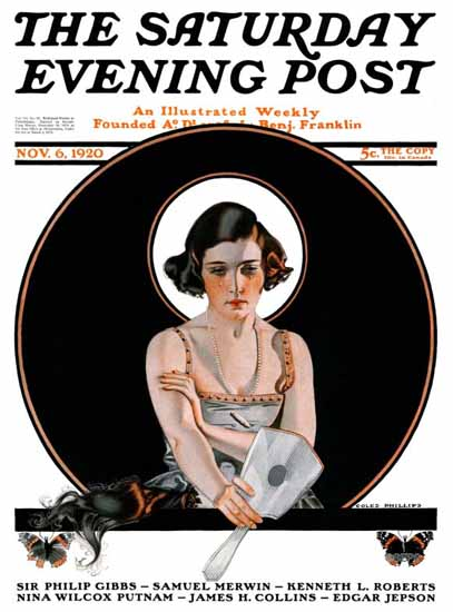 Coles Phillips Saturday Evening Post 1920_11_06 C | 200 Coles Phillips Magazine Covers and Ads 1908-1927