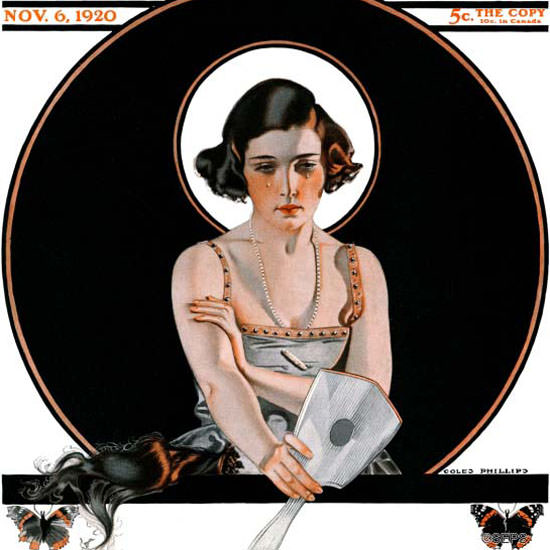 Coles Phillips Saturday Evening Post 1920_11_06 Copyright crop | Best of Vintage Cover Art 1900-1970