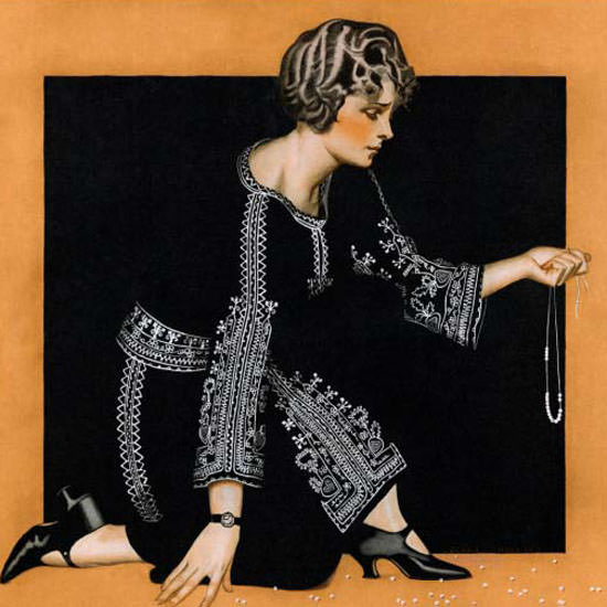 Coles Phillips Saturday Evening Post 1923_11_17 Copyright crop | Best of 1920s Ad and Cover Art