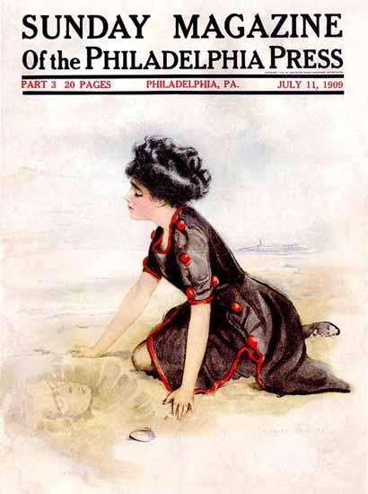 Coles Phillips Sunday Magazine Philadelphia Press 1909 C | 200 Coles Phillips Magazine Covers and Ads 1908-1927