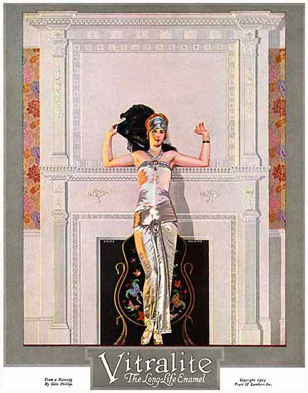 Coles Phillips Vitralite Long-Life Enamel 1923 C | 200 Coles Phillips Magazine Covers and Ads 1908-1927