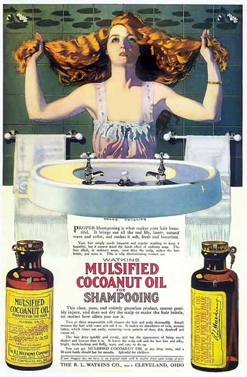 Coles Phillips Watkins Mulsified Coconut Oil For Shampooing C | 200 Coles Phillips Magazine Covers and Ads 1908-1927