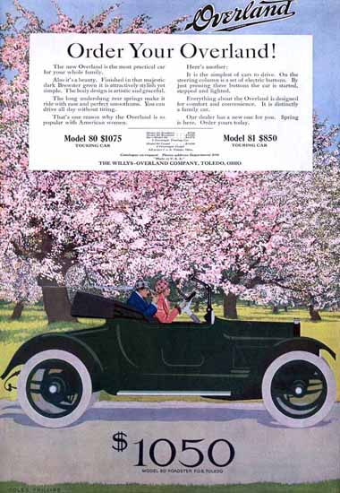 Coles Phillips Willys Overland Model 80 Roadster 1915 C | 200 Coles Phillips Magazine Covers and Ads 1908-1927