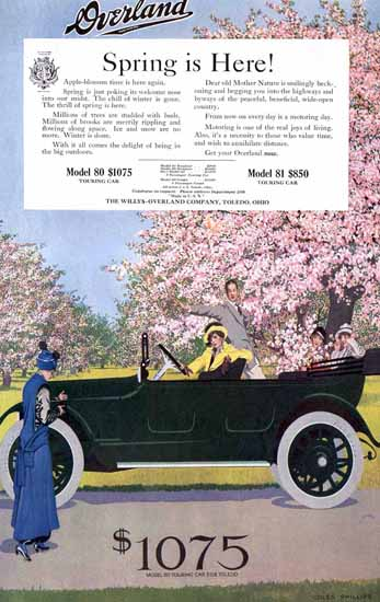 Coles Phillips Willys Overland Model 80 Touring 1915 C | 200 Coles Phillips Magazine Covers and Ads 1908-1927