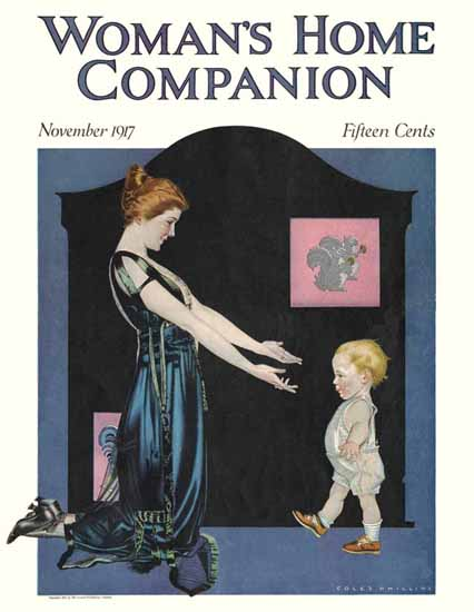 Coles Phillips Womans Home Companion 1917 C   200 Coles Phillips Magazine Covers and Ads 1908-1927