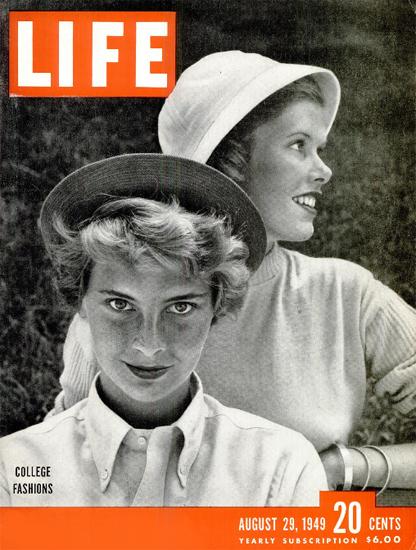 College Fashions 29 Aug 1949 Copyright Life Magazine | Life Magazine BW Photo Covers 1936-1970