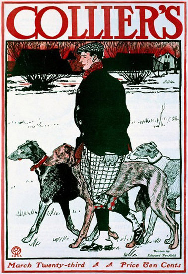Colliers Cover Greyhound | Vintage Ad and Cover Art 1891-1970