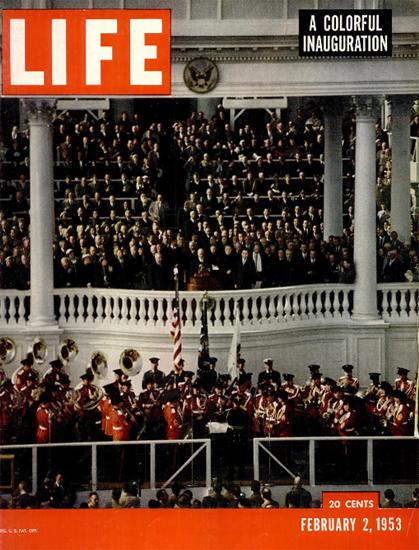 Colorful Inauguration 2 Feb 1953 Copyright Life Magazine | Life Magazine Color Photo Covers 1937-1970