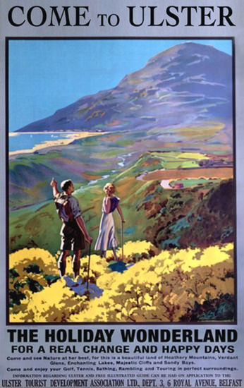 Come To Ulster The Holiday Wonderland | Vintage Travel Posters 1891-1970