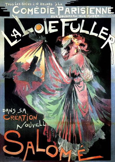 Comedie Parisienne La Loie Fuller Salome France | Sex Appeal Vintage Ads and Covers 1891-1970