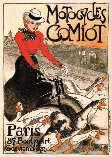Comiot Motocycles Paris France | Vintage Travel Posters 1891-1970