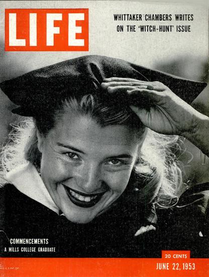 Commencements 22 Jun 1953 Copyright Life Magazine | Life Magazine BW Photo Covers 1936-1970