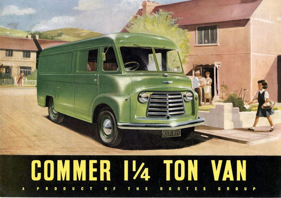 Commer 1 Ton Van Rooters Group Green | Vintage Cars 1891-1970