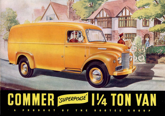Commer 1 Ton Van Rooters Group Yellow | Vintage Cars 1891-1970