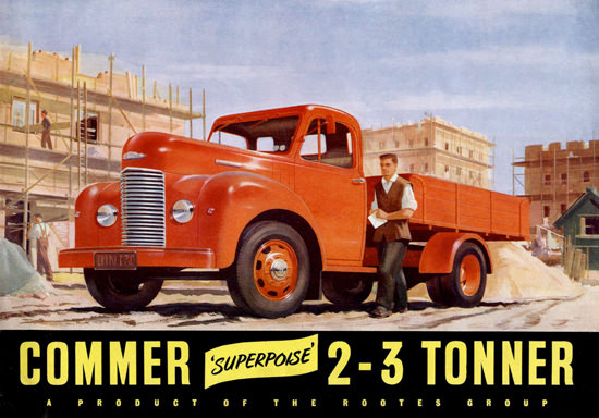 Commer 2-3 Tonner Rooters Group | Vintage Cars 1891-1970