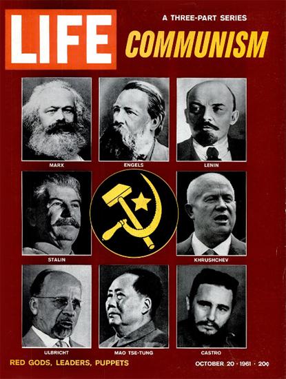 Communism Red Goods Puppets 20 Oct 1961 Copyright Life Magazine   Life Magazine BW Photo Covers 1936-1970