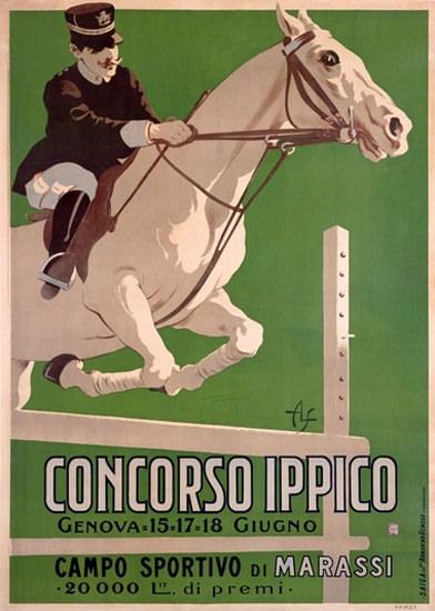 Concorso Ippico Campo Sportivo Marassi Genova | Vintage Ad and Cover Art 1891-1970