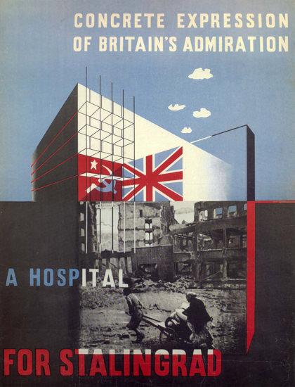 Concrete Expression UK Administation Stalingrad | Vintage War Propaganda Posters 1891-1970
