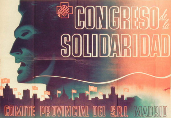 Congreso De La Solidaridad Madrid Spain Espana   Vintage War Propaganda Posters 1891-1970