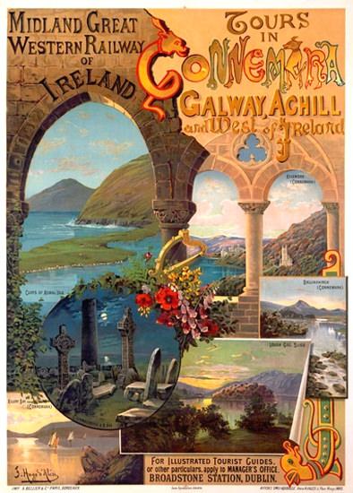 Connemara Galway Achill Ireland Midland GWR | Vintage Travel Posters 1891-1970