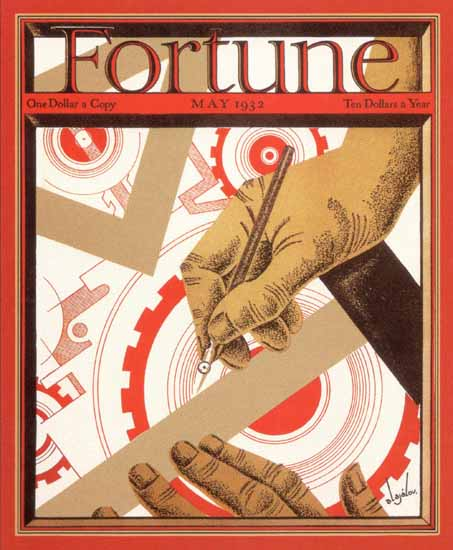 Constantin Alajalov Fortune Magazine May 1932 Copyright | Fortune Magazine Graphic Art Covers 1930-1959