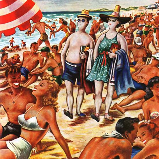 Constantin Alajalov Saturday Evening Post 1946_07_27 Copyright crop | Best of Vintage Cover Art 1900-1970