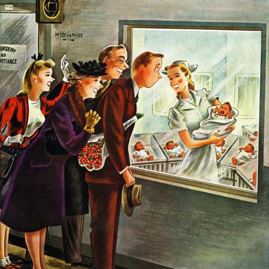 Constantin Alajalov Saturday Evening Post 1946_11_02 Copyright crop | Best of Vintage Cover Art 1900-1970