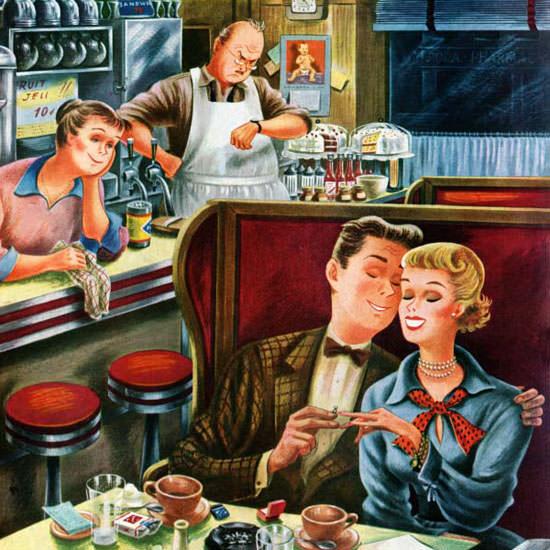 Constantin Alajalov Saturday Evening Post 1950_07_15 Copyright crop | Best of Vintage Cover Art 1900-1970