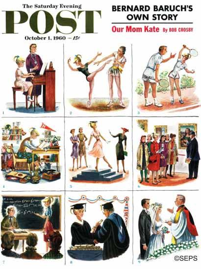 Constantin Alajalov Saturday Evening Post Bacon and Eggs 1960_10_01 | The Saturday Evening Post Graphic Art Covers 1931-1969