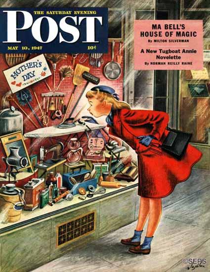 Constantin Alajalov Saturday Evening Post For Mothers Day 1947_05_10   The Saturday Evening Post Graphic Art Covers 1931-1969