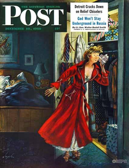 Constantin Alajalov Saturday Evening Post Hidden Gifts 1949_12_10   The Saturday Evening Post Graphic Art Covers 1931-1969